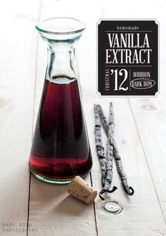 Homemade Vanilla Extract Recipe Made with Vodka or Rum or Bourbon (the alcohol evaporates off when extract is used in cooking & baking}