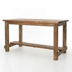 Cecil Farmhouse Reclaimed Wood Bar Pub Table | Zin Home