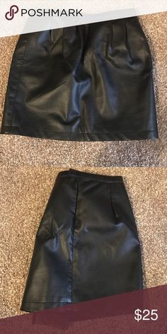 BCBG faux leather skirt- Size S Worn once. BCBG Skirts Mini