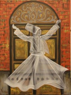 I have lived upon the lip of insanity, Wanting to know reasons, knocking on a door. Whirling Dervish, Spiritual Paintings, Oriental, Turkish Art, Islamic Calligraphy, Islamic Art, Art Pictures, Mystic, Art Drawings