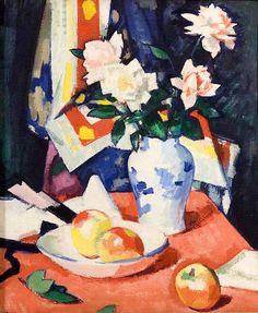 Roses and Still Life - Samuel Peploe