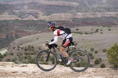 Endurance mountain bike rider Rebecca Rusch sets a new record on the Kokopelli Trail