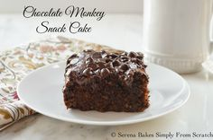 Eggless Chocolate Banana Monkey Snack Cake | Serena Bakes Simply From Scratch
