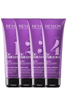 Revlon Professional be Fabulous Hair Recovery 250ml Step 1 to 4.