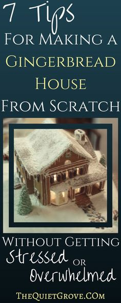 7 Steps for Making a Gingerbread House From Scratch: Without Getting Stressed or Overwhelmed. 7 Steps For Making a Gingerbread House Without Getting Stressed or Overwhelmed. Gingerbread House Template, Gingerbread Dough, Christmas Gingerbread House, Noel Christmas, Christmas Goodies, Christmas Treats, Christmas Baking, All Things Christmas, Gingerbread Houses
