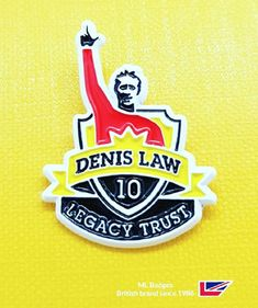 For a badge there is a remarkable likeness to the iconic Denis Law, white dye plating with soft enamel, law started his career with Huddersfield town in 1955 (customers of ours) & had 55 appearance for His native Scotland holding the record 30 goal tally. Name Badges, Pin Badges, Make Your Own Badge, Denis Law, Huddersfield Town, Custom Badges, Scotland, Goal, Plating