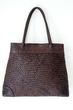 PASSION. Large woven shoulder bag for any occasion / leather tote / oversize bag. Available in different leather colors.. $250.00, via Etsy.