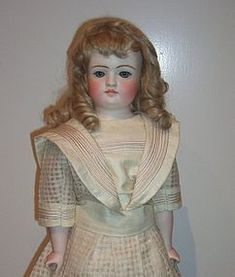 Rare Kling Closed Mouth Antique Doll Circa 1885 Layaway - Three Sisters Antiques #dollshopsunited