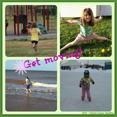 You, your kids and physical health - 10 ideas to get you moving.