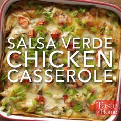 Salsa Verde Chicken Casserole Recipe cheddar casserole vegetable casserole recipes chicken and brocolli casserole chicken and broccoli casserole chicken and stuffing casserole Healthy Potato Recipes, Sweet Potato Recipes, Mexican Food Recipes, Cauliflower Recipes, Keto Recipes, Delicious Recipes, Cheap Recipes, Tasty, Indian Recipes