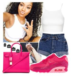 """""""cp4-"""" by glitterly-bhadde ❤ liked on Polyvore featuring xO Design, Topshop, NIKE and Yves Saint Laurent"""