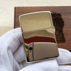 Zippo Harley Davidson Plated Silver and Inlay Gold 90th Anniversary Lighter