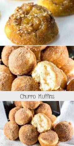 churro cheesecake CHURRO MUFFINS transform a sweet cinnamon sugar Mexican dessert into bite-sized mini muffins that are perfect for breakfast or dessert. Churro Cheesecake, Cheesecake Bites, Cheesecake Recipes, Muffin Cake Recipe, Cinnamon Uses, Mini Muffin Pan, Mini Muffins, Churros, Bite Size
