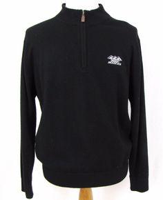 Peter Millar Golf Sweater Large Luxe 1/2 Zip Cashmere Cotton Desert Mountain #PeterMillar #12Zip