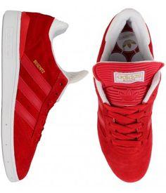 Adidas Busenitz Pro Shoes - University Red/University Red/White $74.00 #adidas #shoes