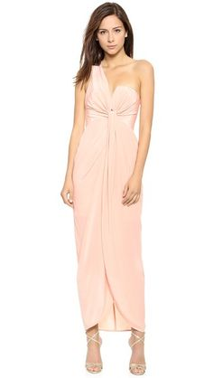 Zimmermann One Shoulder Knot Gown SHOPBOP