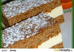 Medové řezy recept - TopRecepty.cz Krispie Treats, Rice Krispies, Czech Recipes, Ethnic Recipes, 20 Min, Vanilla Cake, Tiramisu, Sweet, Czech Food