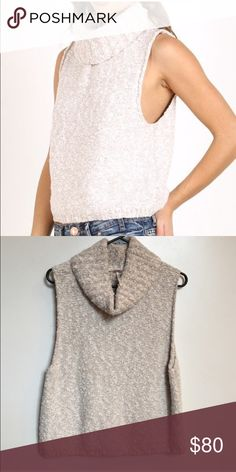 FREE PEOPLE sweater knit tank Free People comfortable, cute and soft knit sweater tank. Never worn, just been sitting in my closet. Free People Sweaters Cowl & Turtlenecks