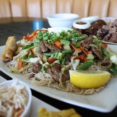 SD's Pleiku Cafe serves up some tasty Pho Bo (rice noodles, lean brisket, rare steak, meatballs in a beef broth topped with basil, jalapeno, lime. #vietnamese #pho Filipino Dishes, Filipino Recipes, Asian Recipes, Ethnic Recipes, Vietnamese Pho, Rare Steak, Haitian Food Recipes, Tasty, Yummy Food