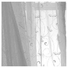 Cortina Velo Bordado blanco 140 x 220 cm-Sodimac.com