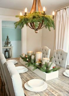 Christmas Greenery That Isnu0027t Your Christmas Tree. Christmas  TablescapesChristmas IdeasChristmas Table CenterpiecesFarmhouse ...