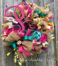 Summer Monogram Vine by Holiday Baubles