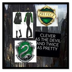"""""""My Slytherin Friend"""" by vampirekitty34 ❤ liked on Polyvore"""