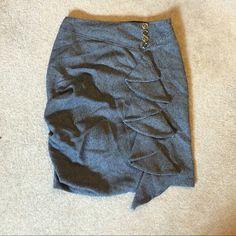 "Fluttering Pencil Skirt 2009 Eva Franco Skirt measurements flat: 14"" waist, 19"" hips, length 21"" Anthropologie Skirts Pencil"