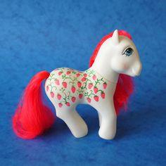 My Little Pony G1 Sugarberry, Twice as Fancy Pony, Hoof Dated 1987. $17.00, via Etsy.