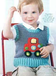 *Free Crochet Pattern: Clown Car Vest
