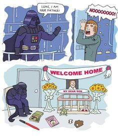 Poor Vader :'( But that little baby crib is so weird. And the Yoda toy gets me