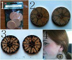 Mandipidy: Woodburned Earrings...