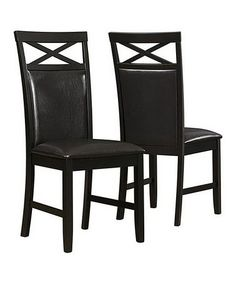 Love this Cappuccino Faux Leather Dining Chair - Set of Two on #zulily! #zulilyfinds