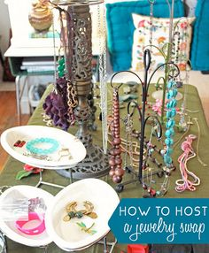 after a jewelry swap, consider craft supply swap, home décor swap, ...