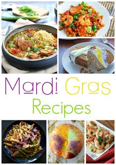 20 Mardi Gras Recipes! Easy Mardi Gras Desserts, Appetizers, and Meal Ideas for your Madi Gras Party!