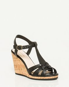 1. STATE Genna Leather Wedge Sandals 7tUCNfS