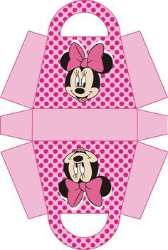 Minnie Mouse Birthday Decorations, Mickey Mouse Birthday, Minnie Mouse Pink, Mickey Minnie Mouse, Diy Gift Box, Gift Boxes, Party In A Box, Party Gifts, Paper Crafts