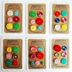 Love Buttons= love the idea of creating button cards with a main mason jar image for my stray vintage buttons