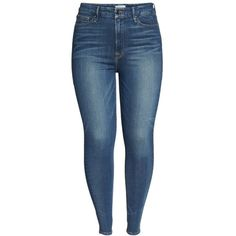 Plus Size Women's Good American Good Waist High Waist Skinny Jeans ($159) ❤ liked on Polyvore featuring jeans, pants, plus size, skinny jeans, blue jeans, high waisted skinny jeans, stretchy skinny jeans and women's plus size jeans