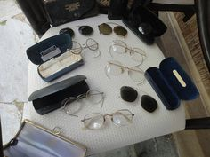 vintage lot of eyeglasses Aviator gold wire by MilliesAttique