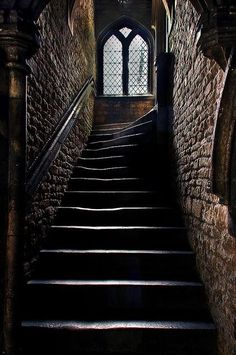 I half expect to see a ghost to appear in the middle of the stairs!