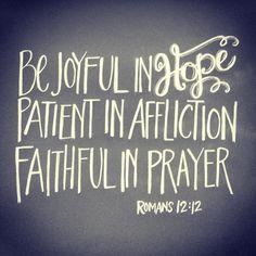 Romans 12:12 more at http://ibibleverses.com