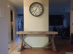 Table-1 Diy Farmhouse Table, Farmhouse Homes, Html Projects, Weathered Grey Stain, Shanty 2 Chic, Home Desk, Restaurant, Diy Desk, Bar Furniture