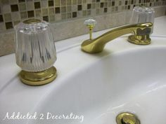 Painted Bathroom Faucets