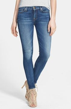 7 For All Mankind® Faded Skinny Ankle Jeans (Rue de Lille) available at #Nordstrom