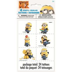 Despicable Me 2 Temporary Tattoos [4 Sheets]