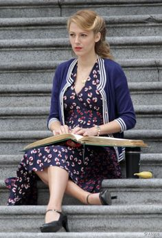 Get Blake Lively's vintage ponytail hairstyle from the  Age of Adaline  set