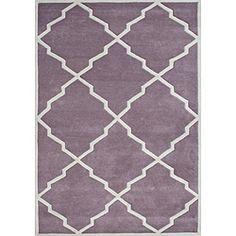 Alliyah Handmade Lilac New Zealand Wool Rug (8x10)