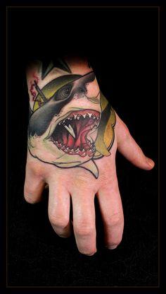 Daniel Gensch #tattoo #ink #shark // sans the spear