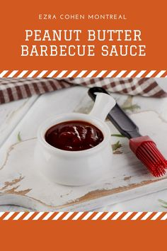Try this unique twist on barbecue sauce, just in time for summer. Peanut butter adds a complex flavor and richness to the traditional sweet and spicy barbecue sauce. Grilled Chicken Sandwiches, Grilled Tofu, Marinated Chicken, Barbecue Sauce Recipes, Grilling Recipes, Cashew Butter, Peanut Butter, How To Make Sandwich, Appetizer Dips